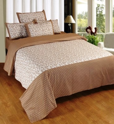 RedHot Cotton Floral Double Bedsheet