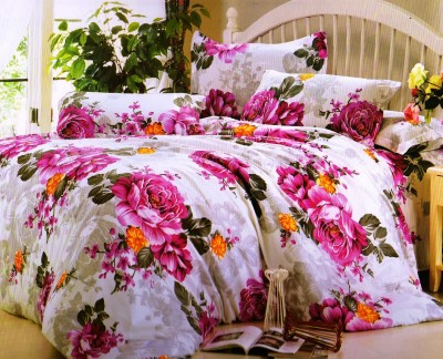 Ruhi Home Furnishing Polyester Abstract Double Bedsheet