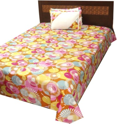 The perfect comfort Cotton Abstract Double Bedsheet