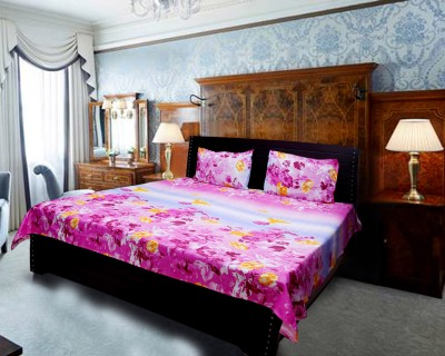 Amazing India Collections Polycotton Abstract Double Bedsheet