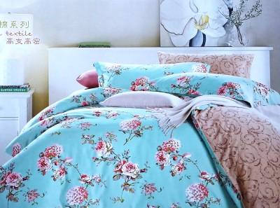 VS Collection Cotton Floral Double Bedsheet