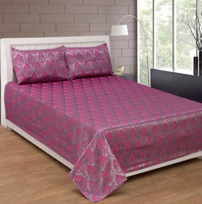 Shivalik Cotton Silk Blend Floral Double Bedsheet