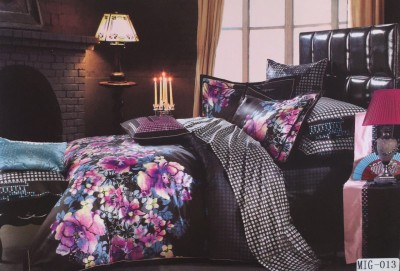 I-Dream Decor Cotton Floral King sized Double Bedsheet