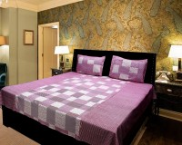 Lookandlike Cotton Checkered Double Bedsheet(1 Double Bed Sheet, 2 Pillow Covers, Pink, Pink)