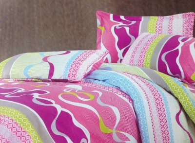 Tima Polyester Abstract Double Bedsheet