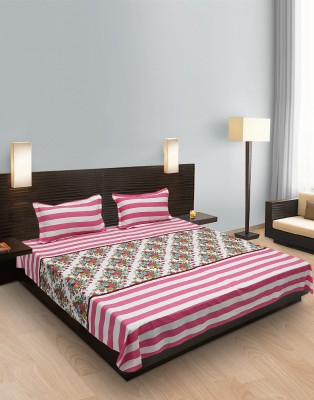 Heritage Singhal Cotton Striped Double Bedsheet