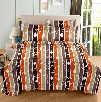 Ahmedabad Cotton Cotton, Satin Striped Double Bedsheet