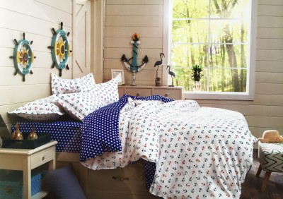 Mk Retail Polycotton Printed Queen sized Double Bedsheet