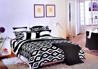 Hashcart Cotton Checkered Double Bedsheet