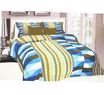 Florida Cotton Geometric Queen sized Double Bedsheet
