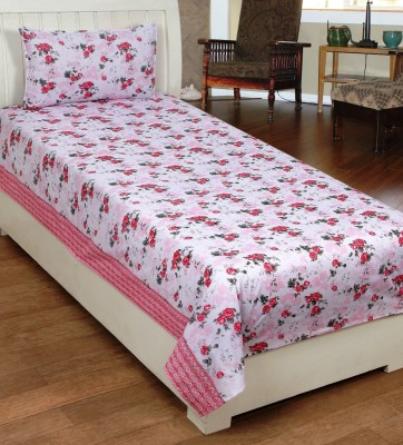 IndianOnlineMall Cotton Floral Single Bedsheet