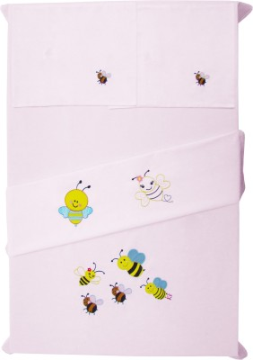 Baby Rap Cotton Embroidered Crib Bedsheet