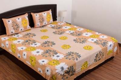 SheetKart Cotton Floral Double Bedsheet