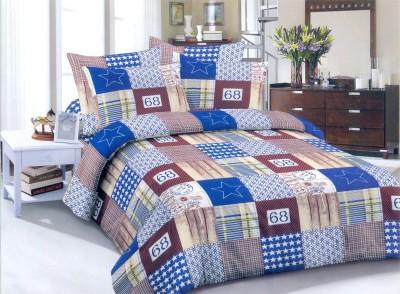 Maharaja Craft Cotton Checkered Double Bedsheet