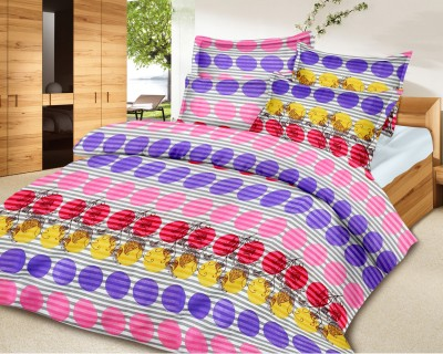Urban Style Cotton Abstract Double Bedsheet