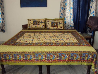 TSS Cotton Printed Double Bedsheet
