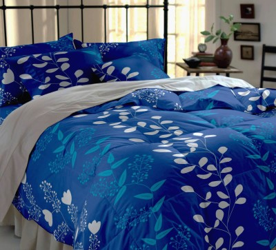 Home Ecstasy Cotton, Satin Floral Double Bedsheet
