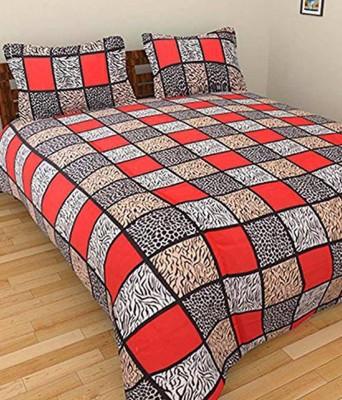 Sparklings Cotton Geometric Double Bedsheet