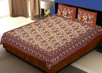 JaipurFabric Cotton Printed Double Bedsheet(Quantity: Set of 3 Pieces (1 Double Bed Sheet + 2 Pillow Covers), Multicolor) best price on Flipkart @ Rs. 846