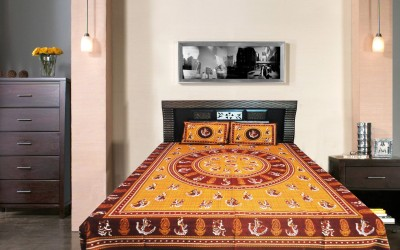 Wow-But-How Cotton Printed Double Bedsheet