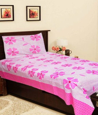 The Intellect Bazaar Cotton Floral Single Bedsheet