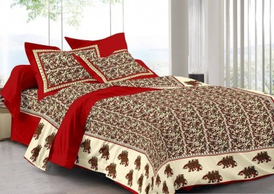 FrionKandy Cotton Printed Double Bedsheet