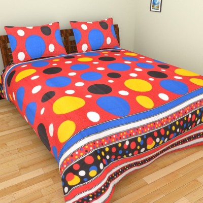 Creativezone Cotton Linen Blend 3D Printed Double Bedsheet