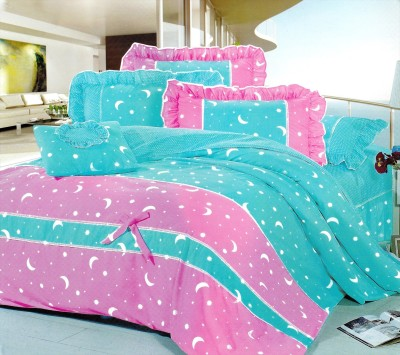 Plaxo Polycotton Printed Double Bedsheet