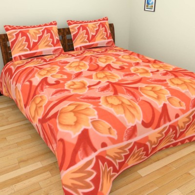 Feathers Polyester Floral Double Bedsheet