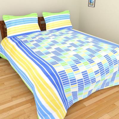 Shra Cotton Checkered Double Bedsheet