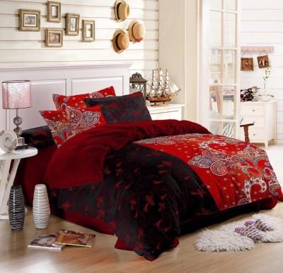 Gopani Dispatchers Polyester Silk Blend Abstract Double Bedsheet