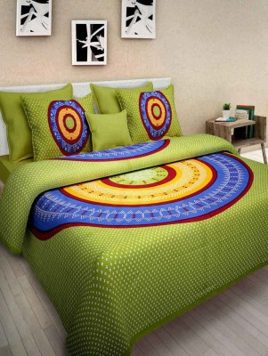 SONAL TEXTILES Cotton Printed Double Bedsheet