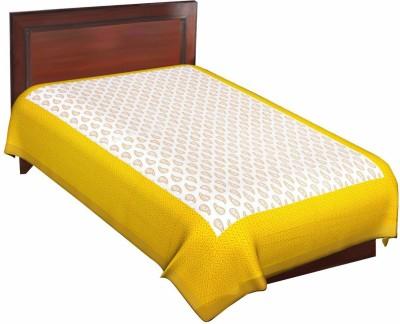 Vardhman Enterprises Cotton Self Design Single Bedsheet