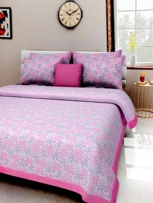 manasvi innovation Cotton Printed Double Bedsheet