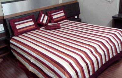 Mango Furnishings Polycotton Striped Double Bedsheet