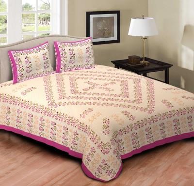Arihant Online Cotton Floral Double Bedsheet