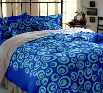 Dreamscape Cotton Geometric Double Bedsheet