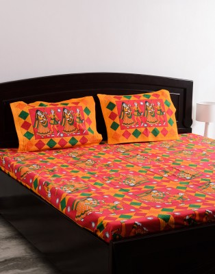 Vivid Rajasthan Cotton Abstract Queen sized Double Bedsheet