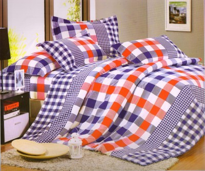 Melody Cotton Geometric Double Bedsheet