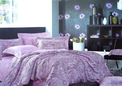 VS Collection Cotton Paisley Double Bedsheet