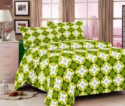 Gopani Dispatchers Cotton Geometric Double Bedsheet