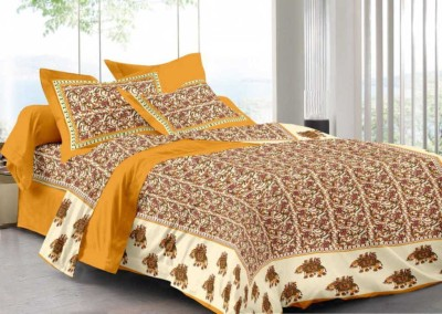 Kismat Collection Cotton Printed King sized Double Bedsheet