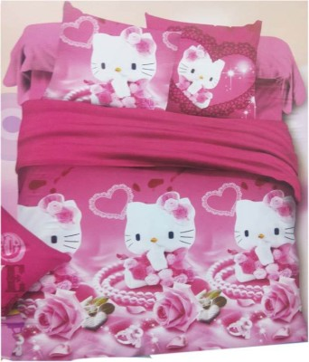 AJ Home Cotton Cartoon Double Bedsheet