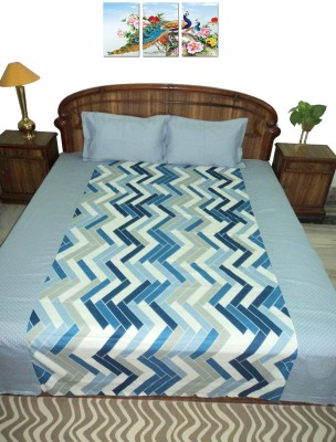 Amita Home Furnishing Cotton Striped Queen sized Double Bedsheet