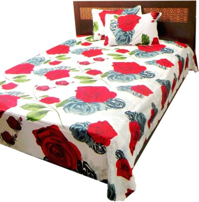 The perfect comfort Cotton Floral Queen sized Double Bedsheet