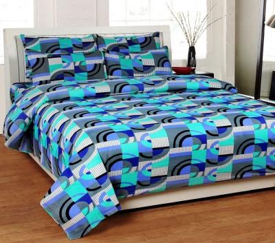 SRKS Cotton Geometric Double Bedsheet
