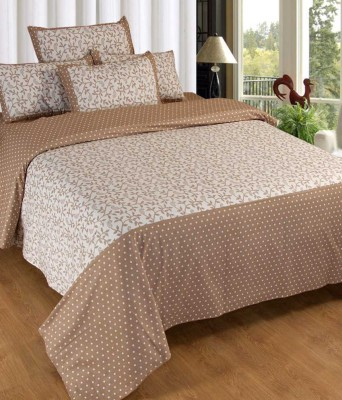 Nitin traders Cotton Floral Double Bedsheet