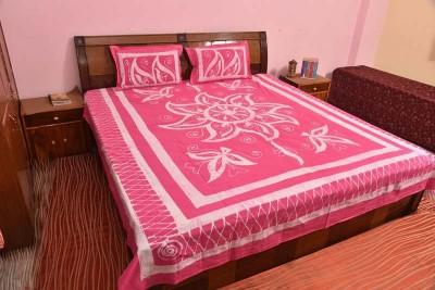 Krishna Art & Craft Cotton Floral Double Bedsheet
