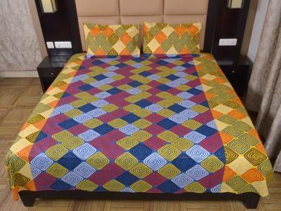 DnF Cotton Geometric Double Bedsheet