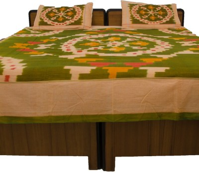 Navrang Colours of India Cotton Floral Double Bedsheet